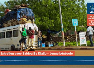 Saidou Ba Diallo, Jeune bénévole :«Ici, il y a plus de 50% des jeunes qui n'ont pas de travail»